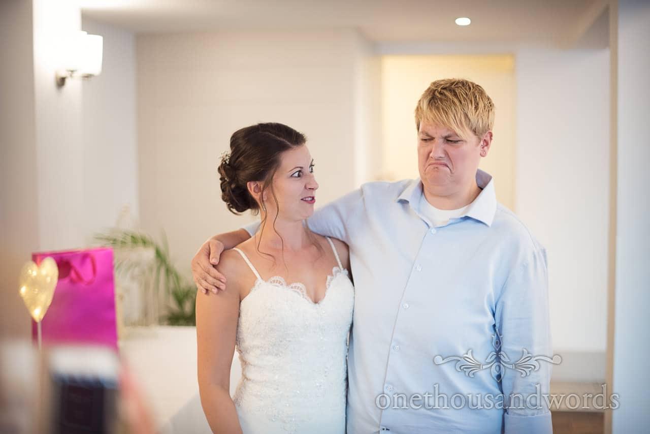 Bride and bridesmaid during reception at Italian Villa Wedding
