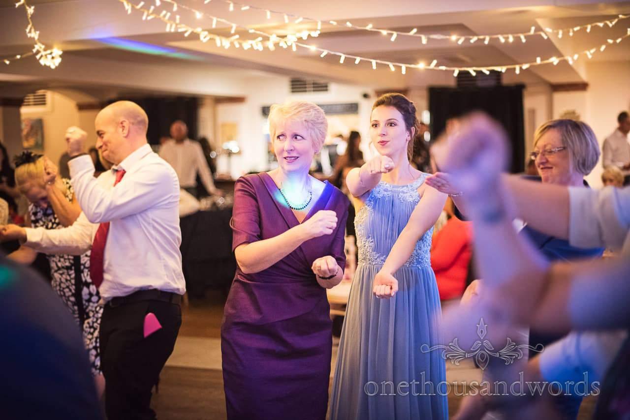 Bridesmaid and guest do baby shark dance at Italian Villa Wedding