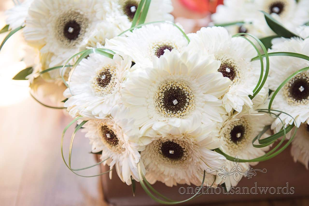Bridesmaid White Anemone bouquets from Old Vicarage Wedding