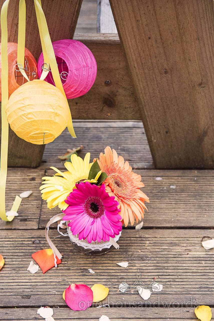 Bright colored details from Old Vicarage Wedding