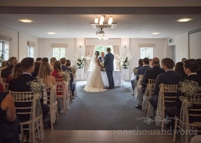 Ceremony in the Medici Suite at the Italian Villa Wedding venue