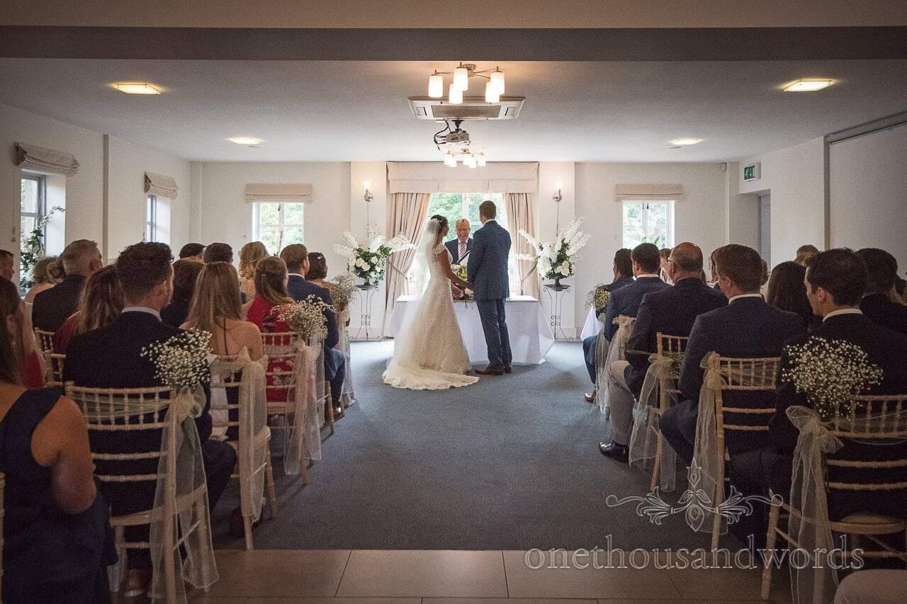 Ceremony in the Medici Suite at the Italian Villa Wedding venue