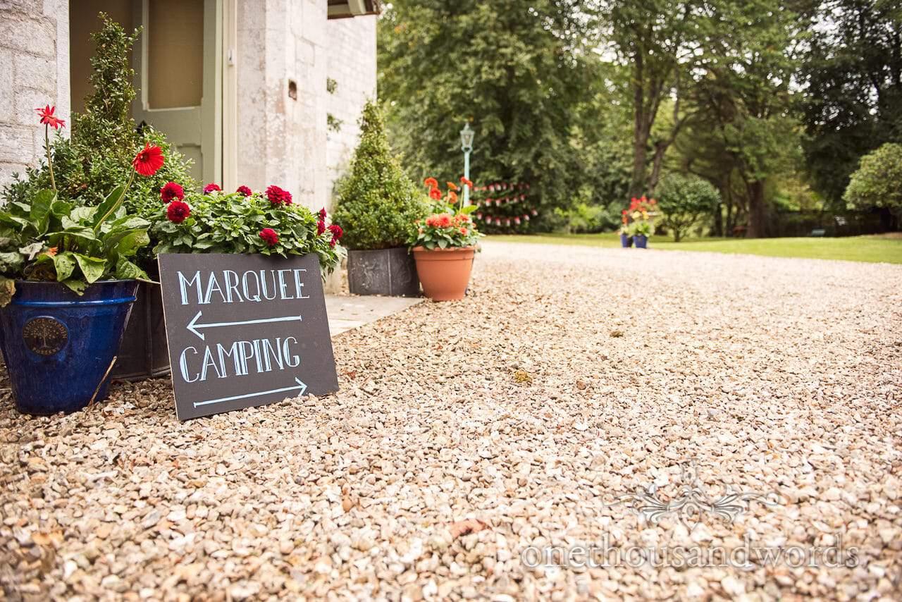 Chalk board wedding signs from Dorset Garden Wedding