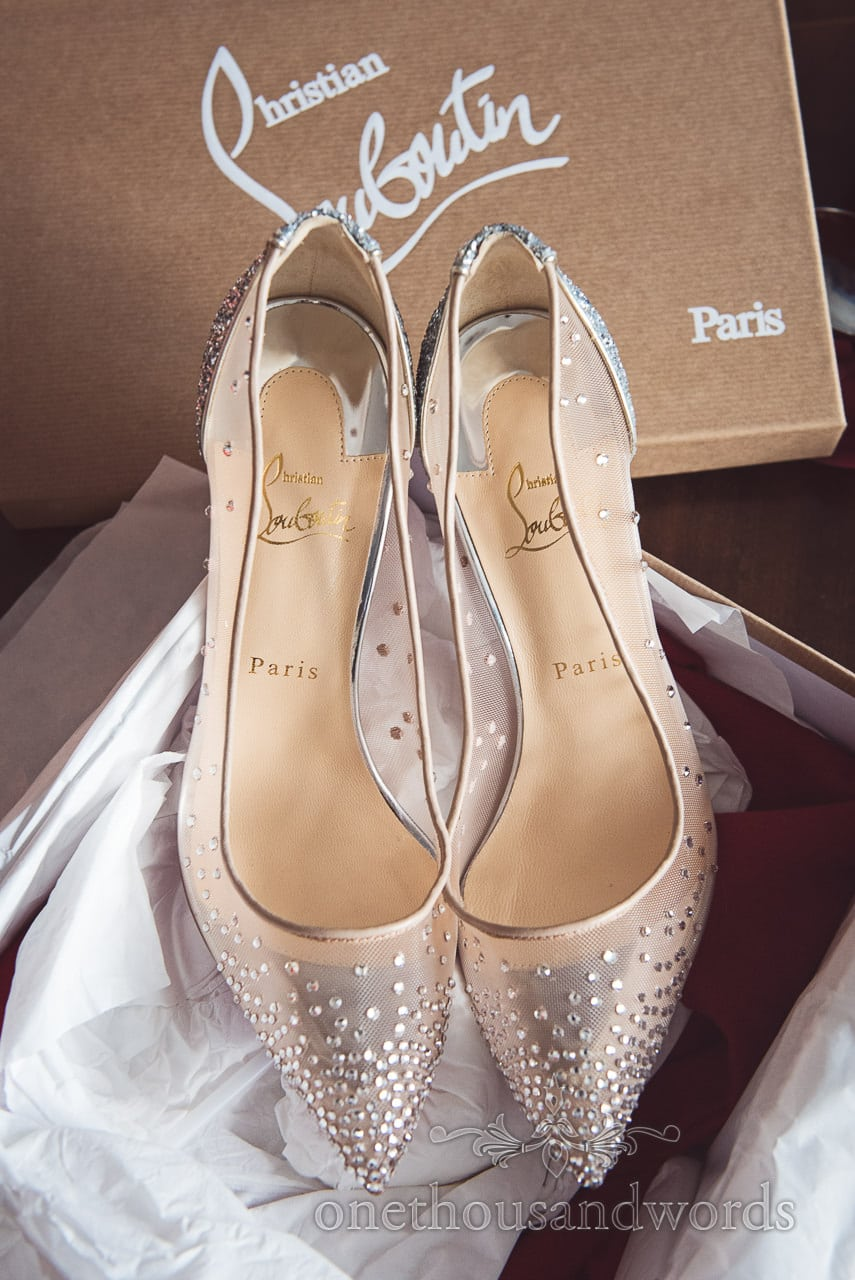 Christian Louboutin wedding shoes from The Old Vicarage Wedding