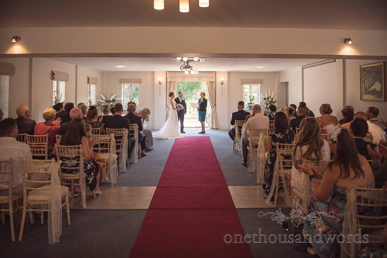 Civil ceremony in the Medici Suite at Italian Villa Wedding Venue Photos