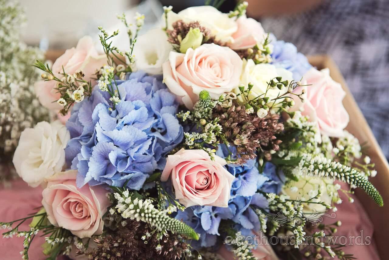 Colorful bridal bouquet from Italian Villa Wedding