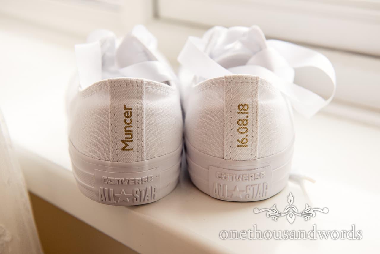 Custom converse all star bridal trainers from Italian Villa Wedding