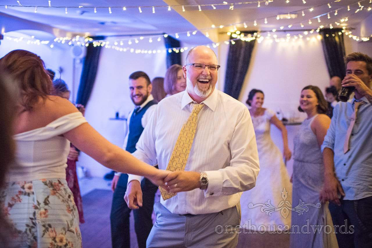 Evening wedding dancing at The Italian Villa wedding venue in Poole, Dorset