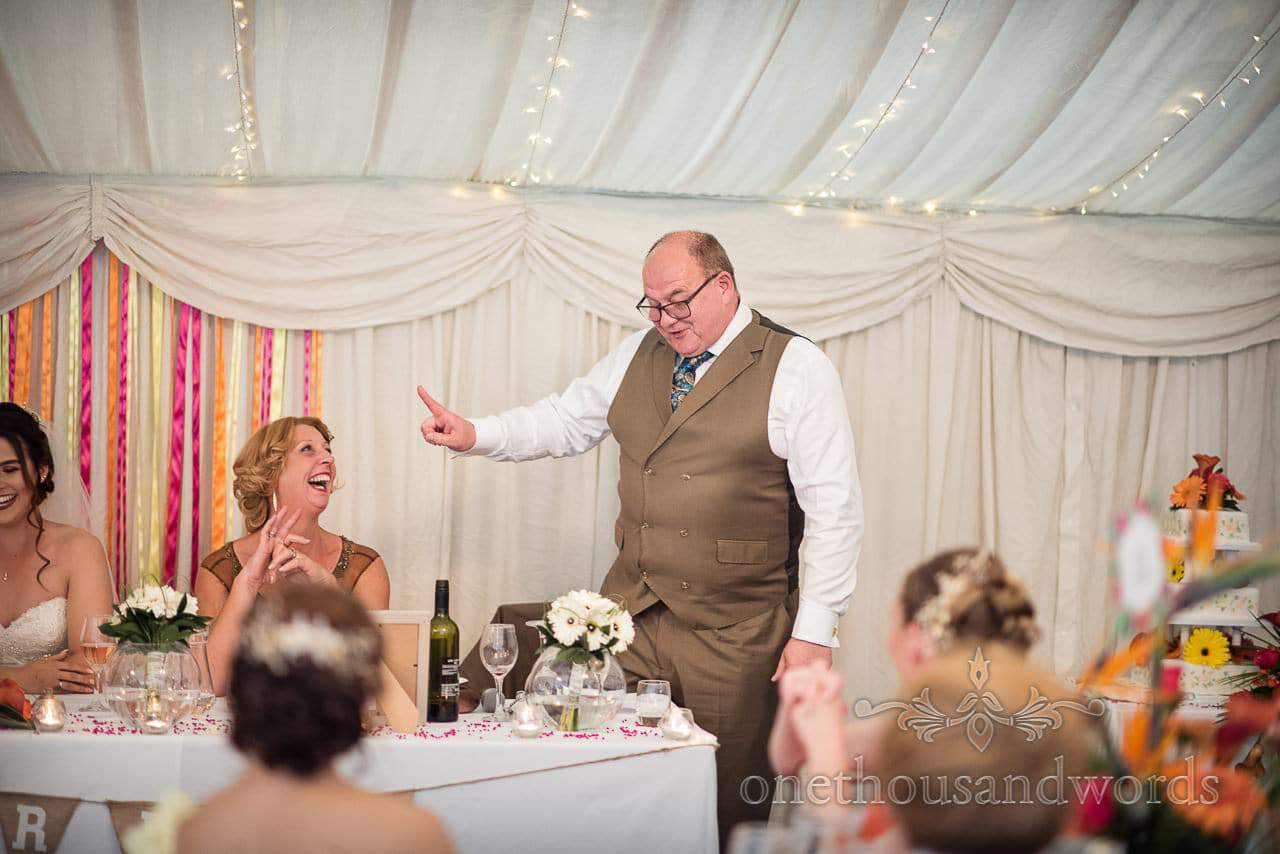 Father of the bride delivers speech at The Old Vicarage Wedding Photographs