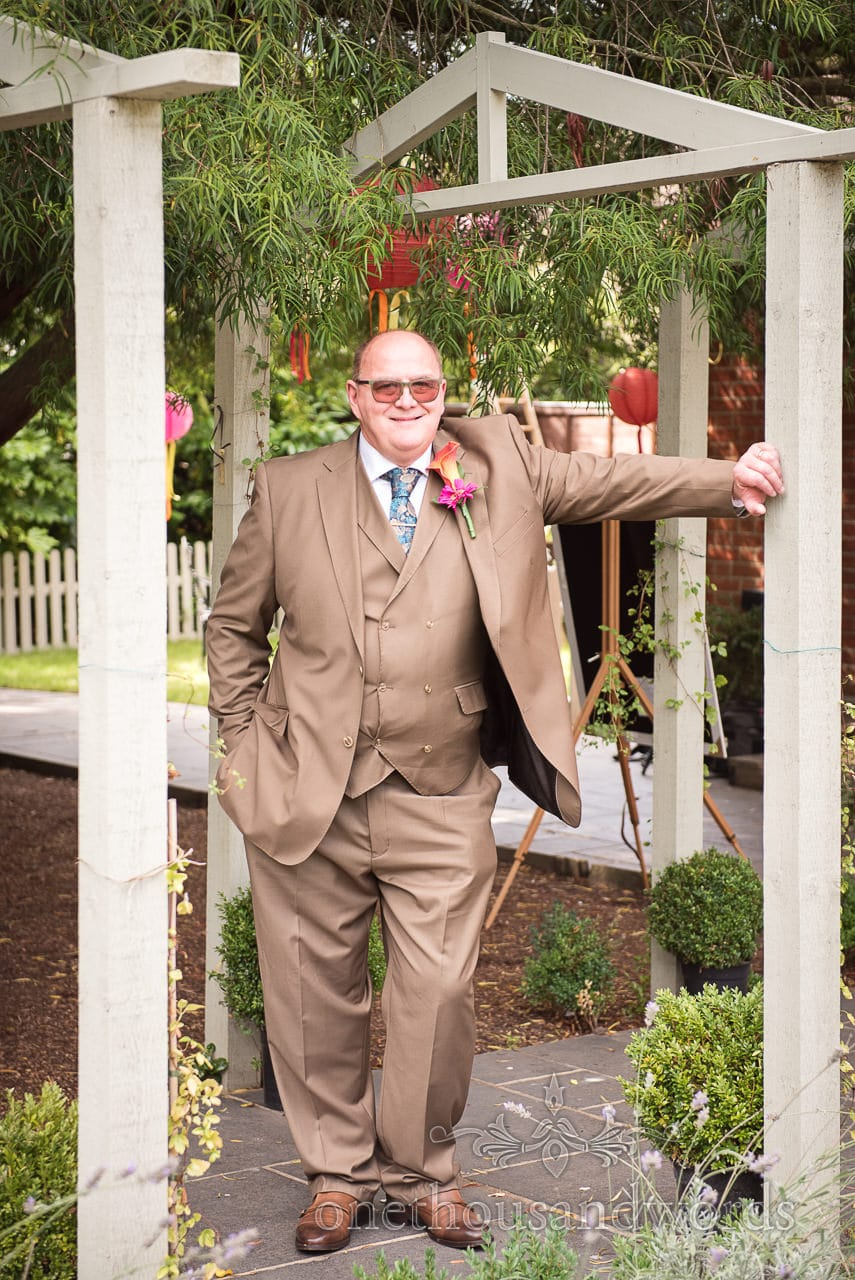 Father of the bride in wedding suit at The Old Vicarage Wedding Photographs