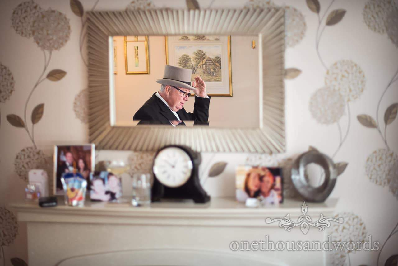 Father of the bride with top hat from Canford School Wedding