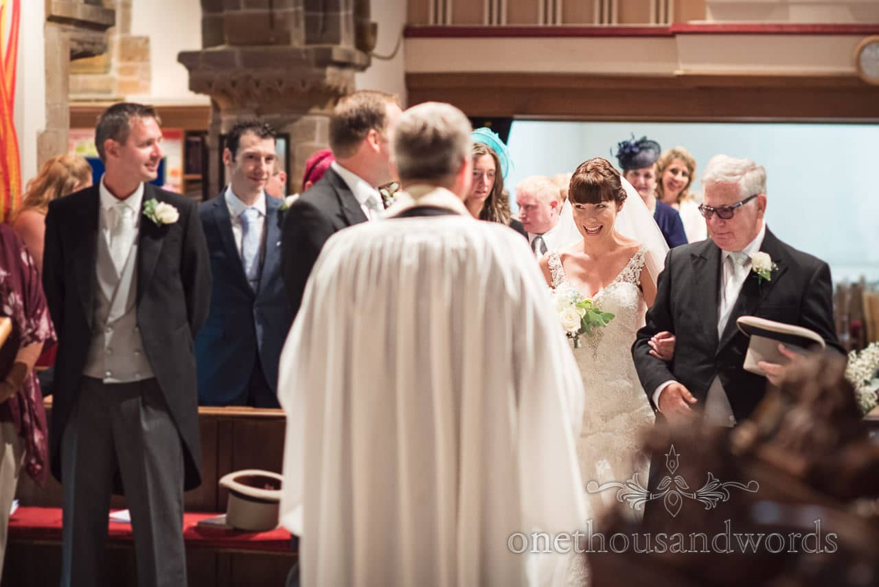 First look at Canford School church Wedding