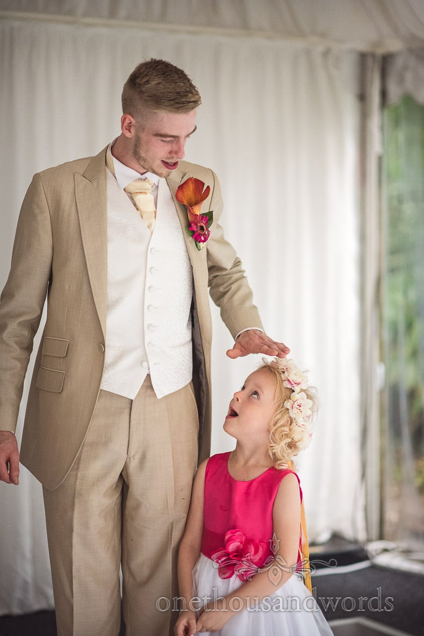 Groomsman and flower girl from the Old Vicarage Wedding Photographs