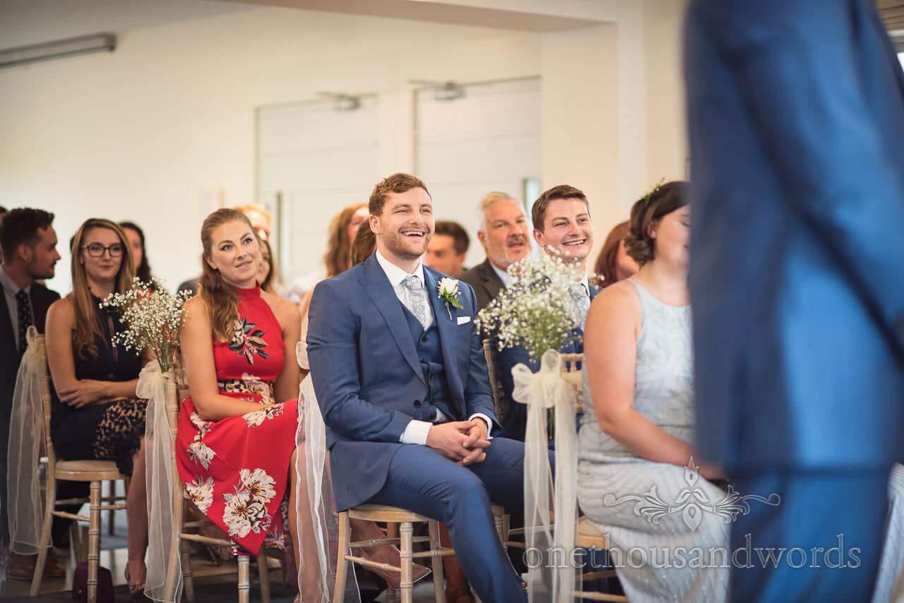 Groomsmen and guests at the Italian Villa Wedding Venue