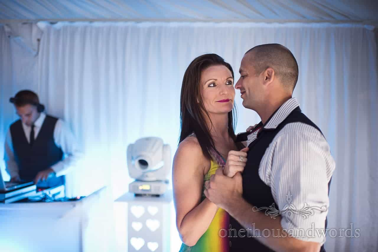 Guest on the dance floor at The Old Vicarage Wedding