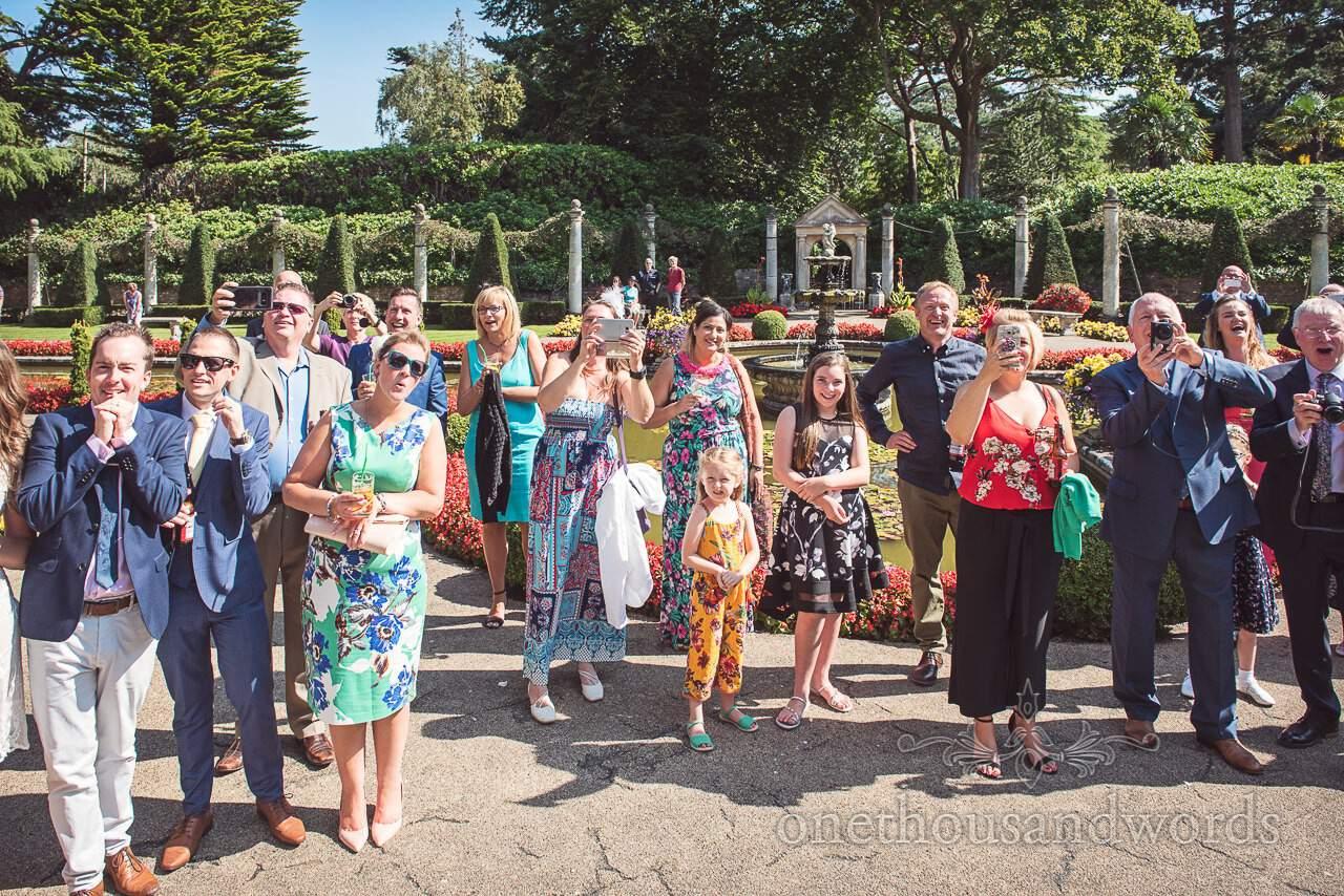 Guest photographers in gardens at the Italian Villa Wedding venue photos