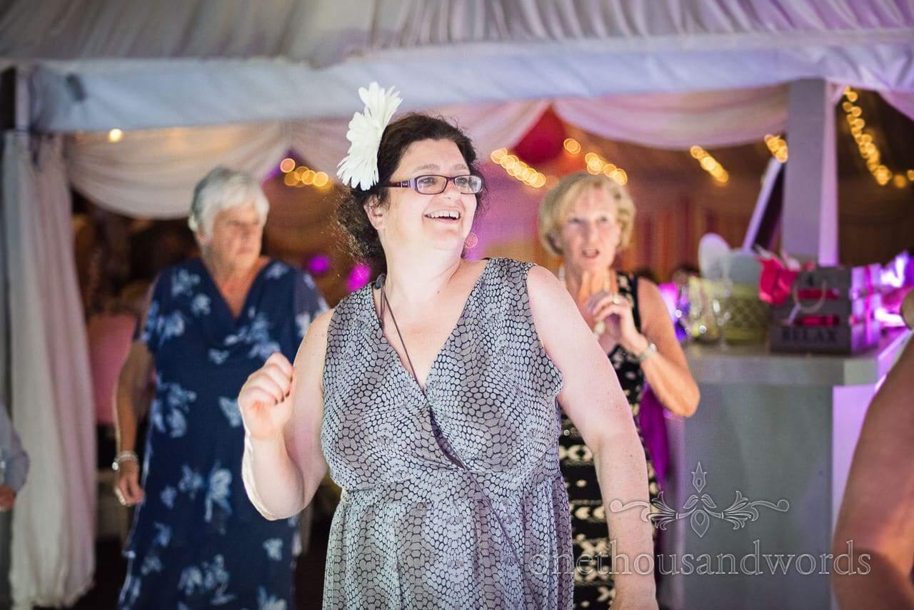 Guests enjoying the dance floor at Old Vicarage Wedding Photographs