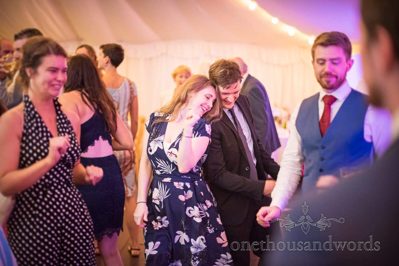 Guests get down on dance floor during evening reception
