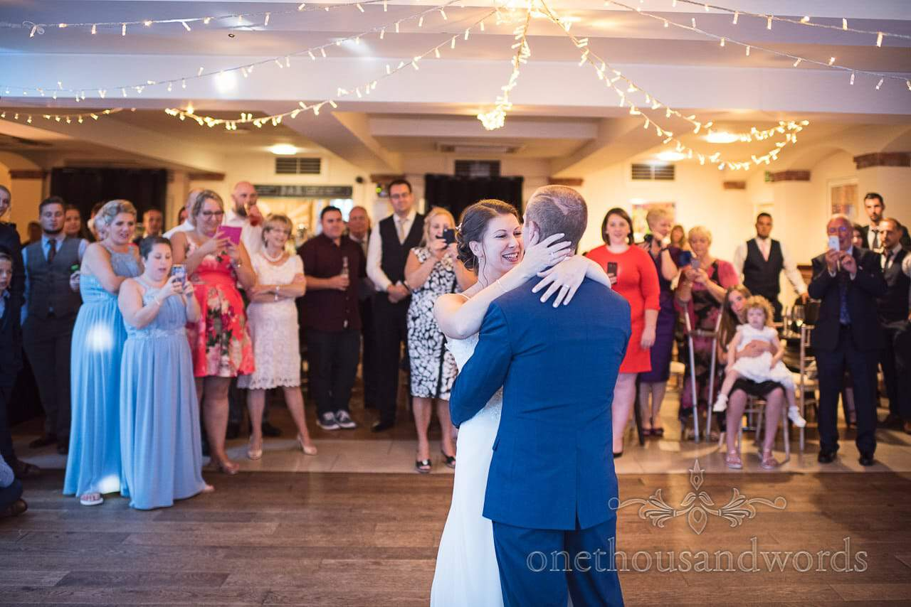 Newlyweds perform first dance at Italian Villa Wedding