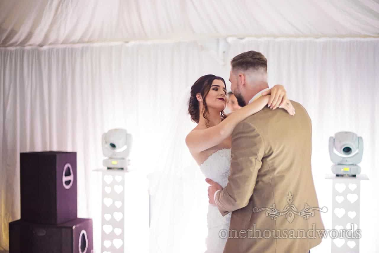 Newlywed take fire dance at reception at the Old Vicarage Wedding Photographs