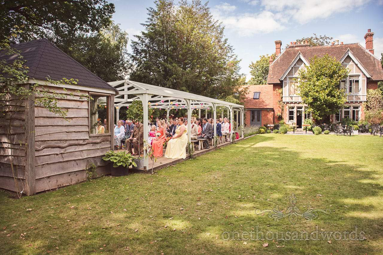 Outdoor civil ceremony at the Old Vicarage Wedding Photographs