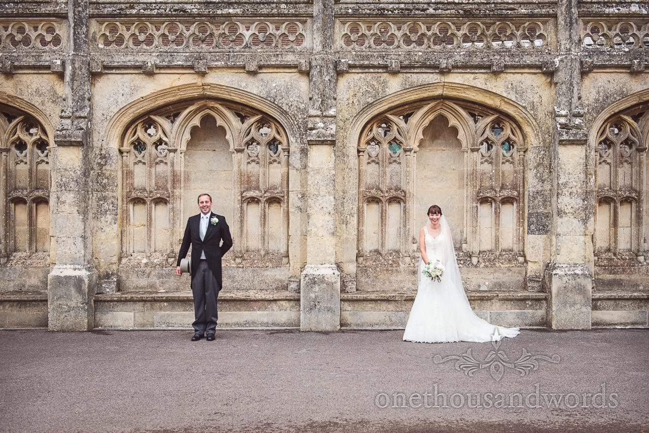 Smiling bride and groom from Canford School Wedding Photographs