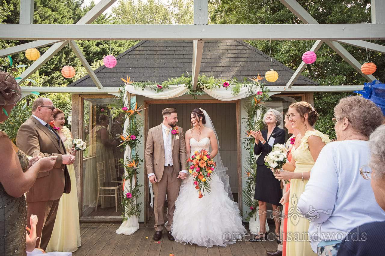 The bride and groom are married at The Old Vicarage Wedding Photographs