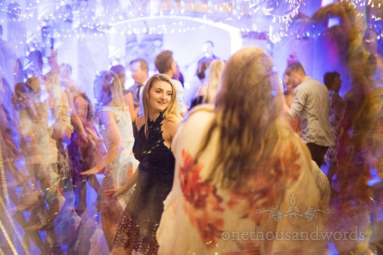 Wedding guests dancing at The Italian Villa wedding venue
