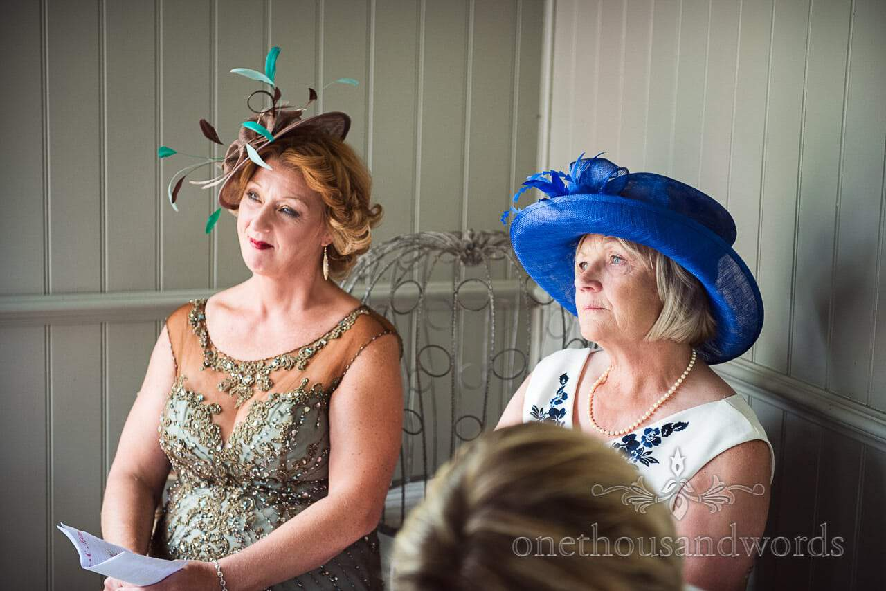 Witnesses witness marriage at The Old Vicarage Wedding Photographs