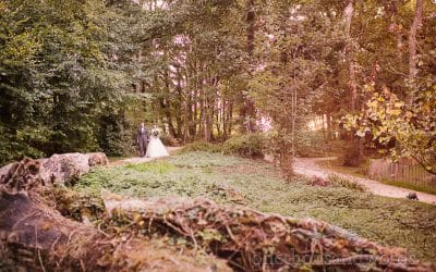 Woodland Lulworth Castle Wedding Photos with Harriet and Lee