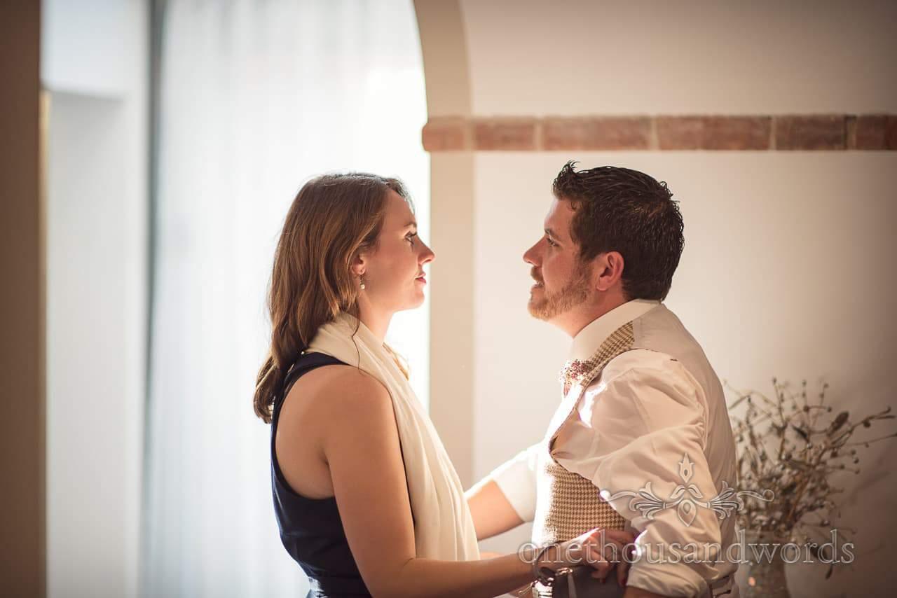 Best man and partner at Italian Villa wedding