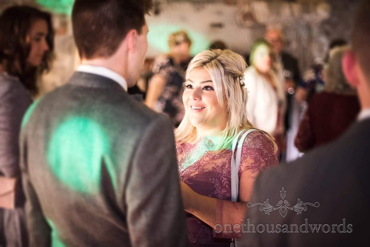 Bridesmaid on the wedding dance floor at Lulworth Castle Wedding reception