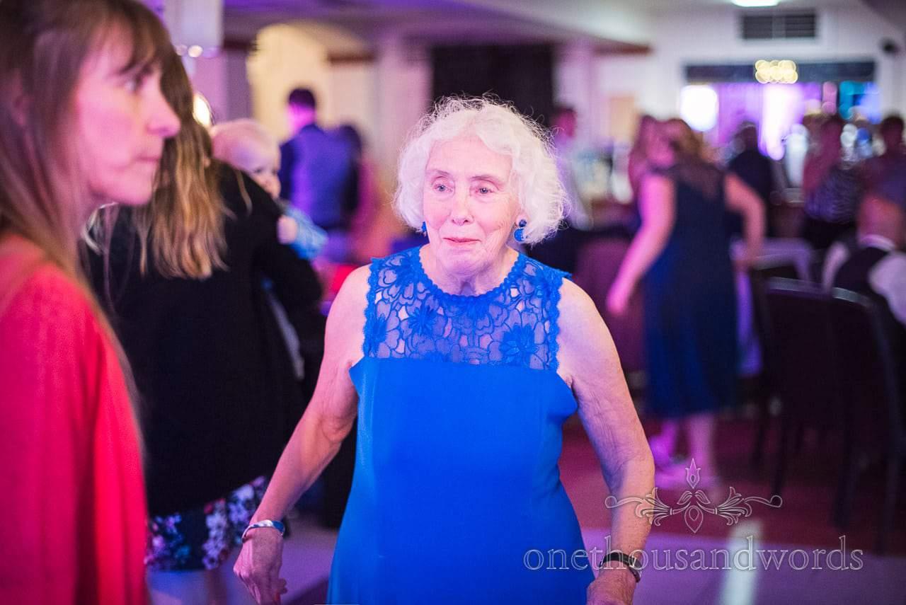 Granny on the dance floor at The Italian Villa wedding venue in Poole
