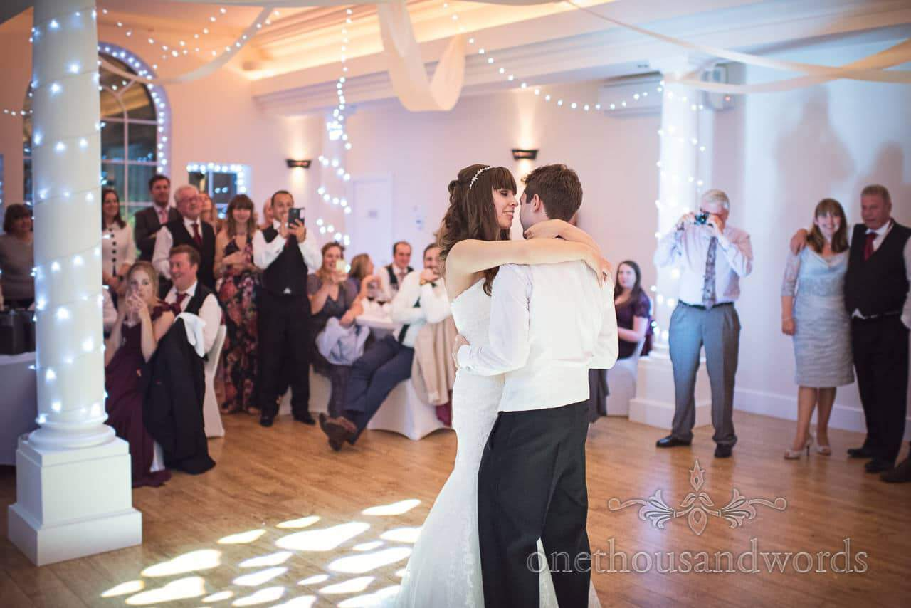 Hethfelton House Wedding Photographs of first dance with guests
