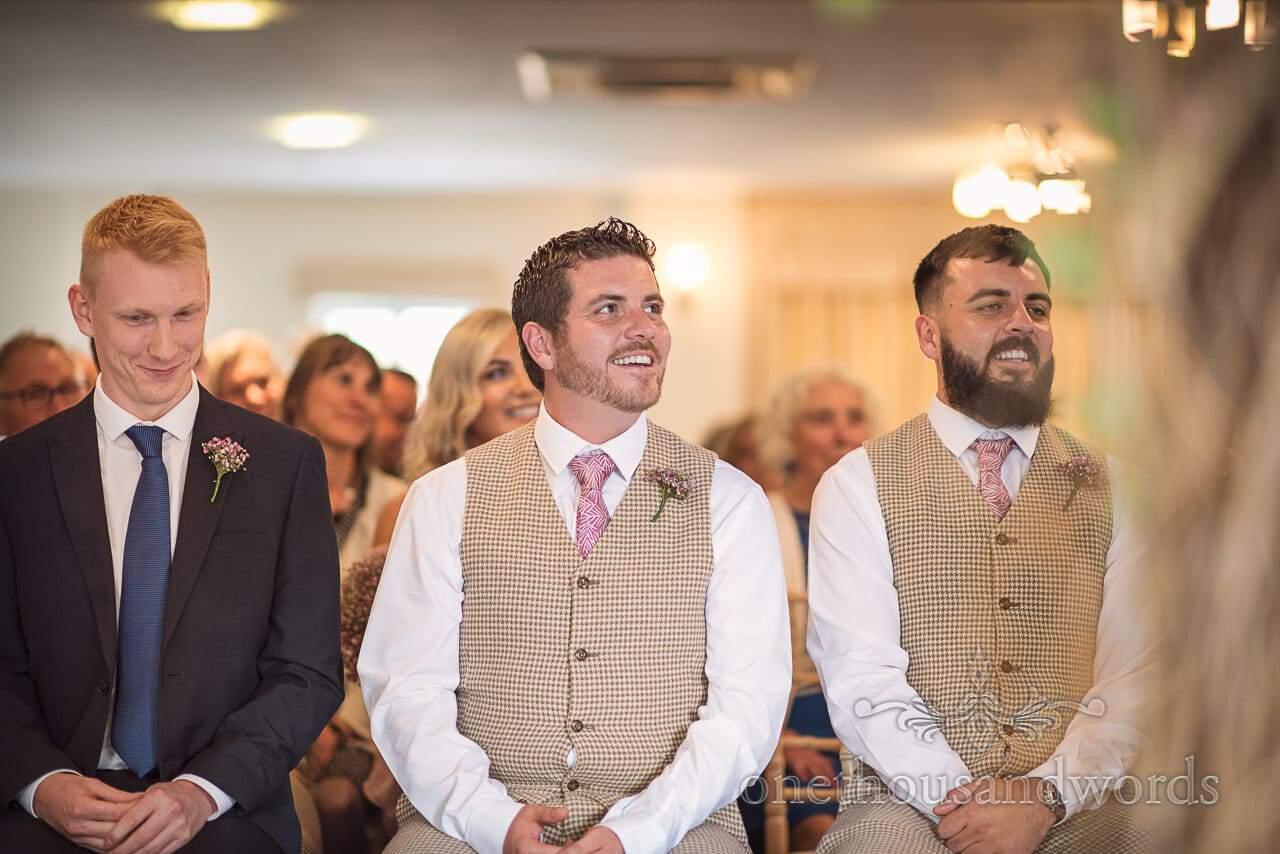 Italian Villa documentary wedding photos of best men and ring bearer