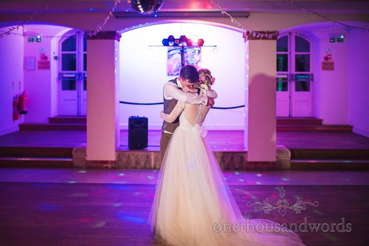 Italian Villa Documentary Wedding Photos of first dance with bride and groom