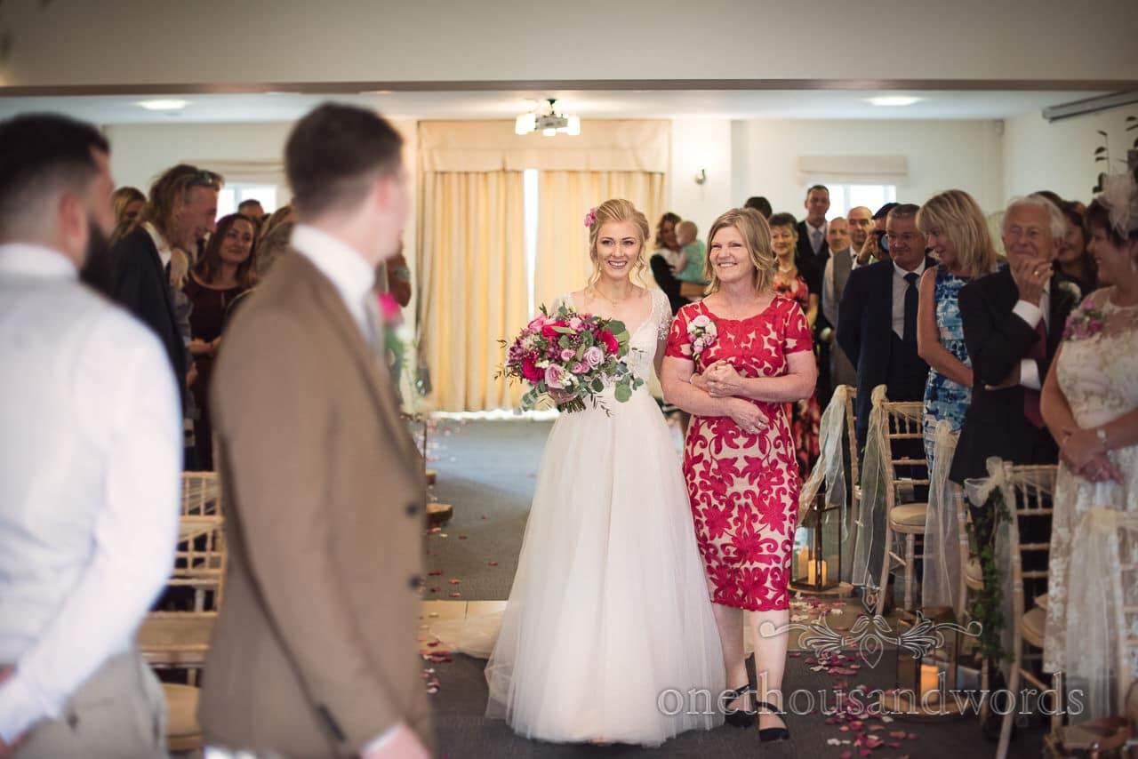 Italian Villa documentary wedding photos of first look between bride and groom