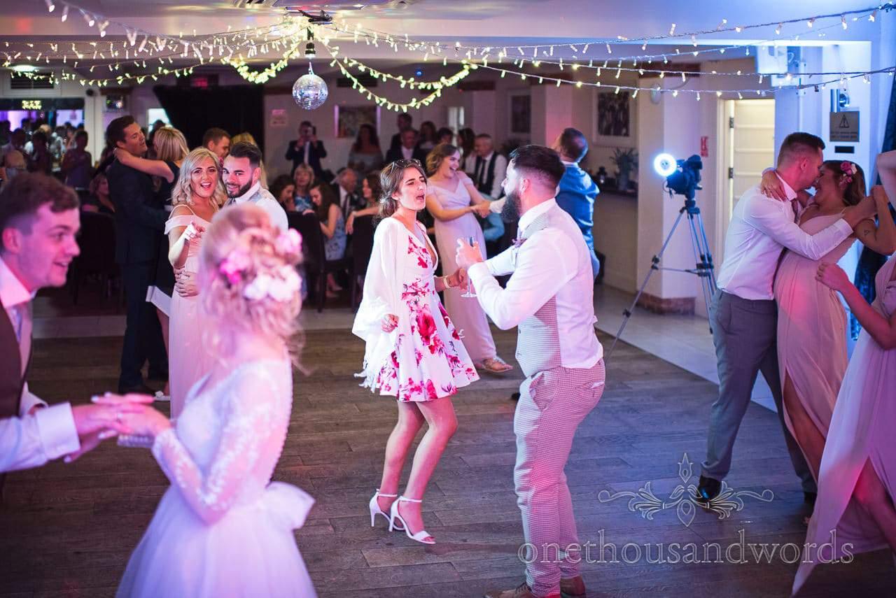 Italian Villa Documentary Wedding Photos of wedding guests dancing