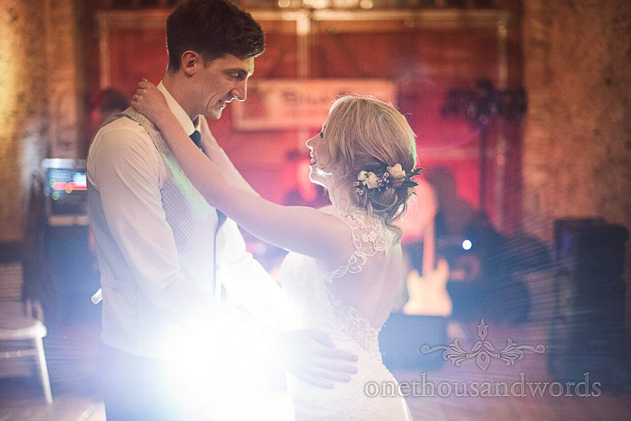 First dance documentary wedding photograph at Kingston Country Courtyard