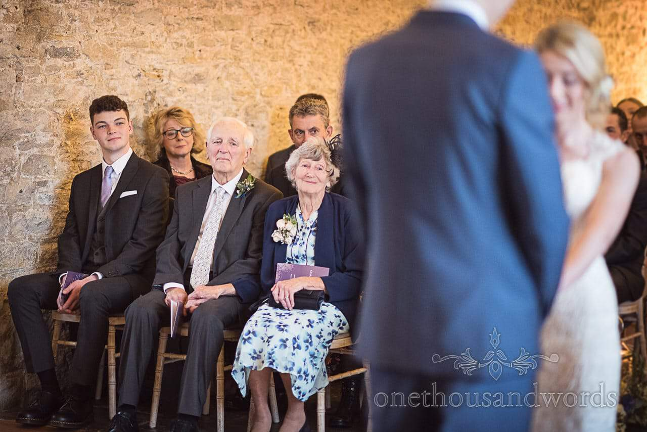 Grandparents tearfully watch wedding ceremony at Kingston Country Courtyard