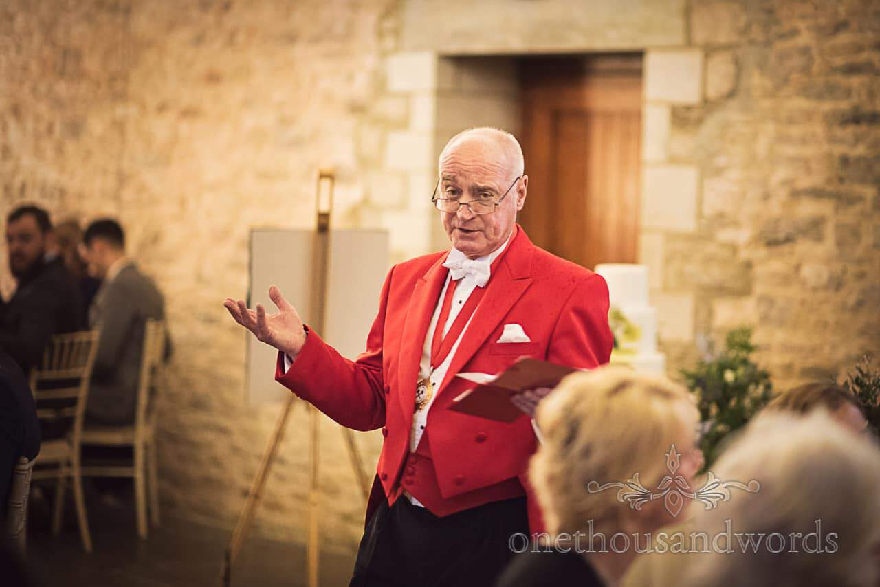 Mike Judd Master of ceremonies conducts wedding at Kingston Country Courtyard