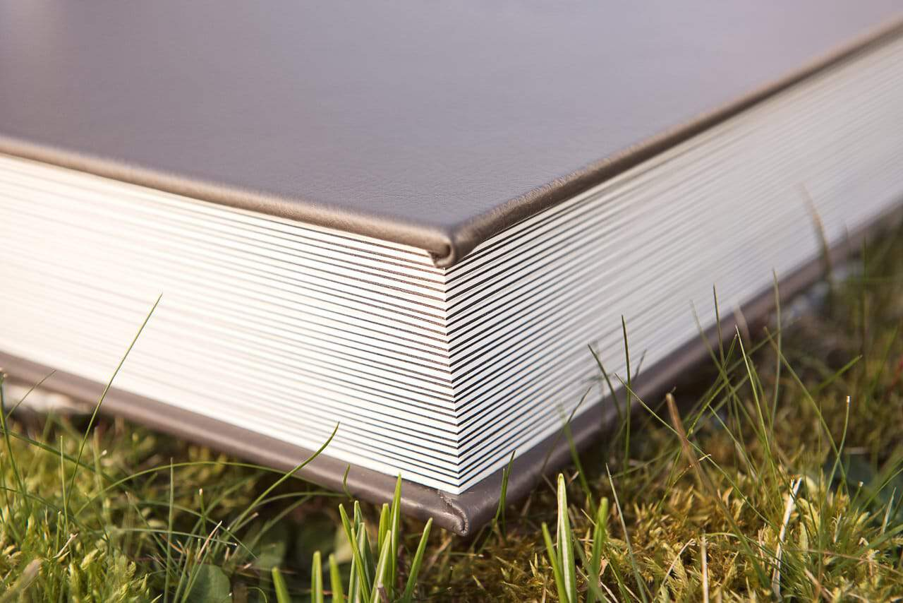 Leather Bound Matted Wedding Photography Album page detail photograph