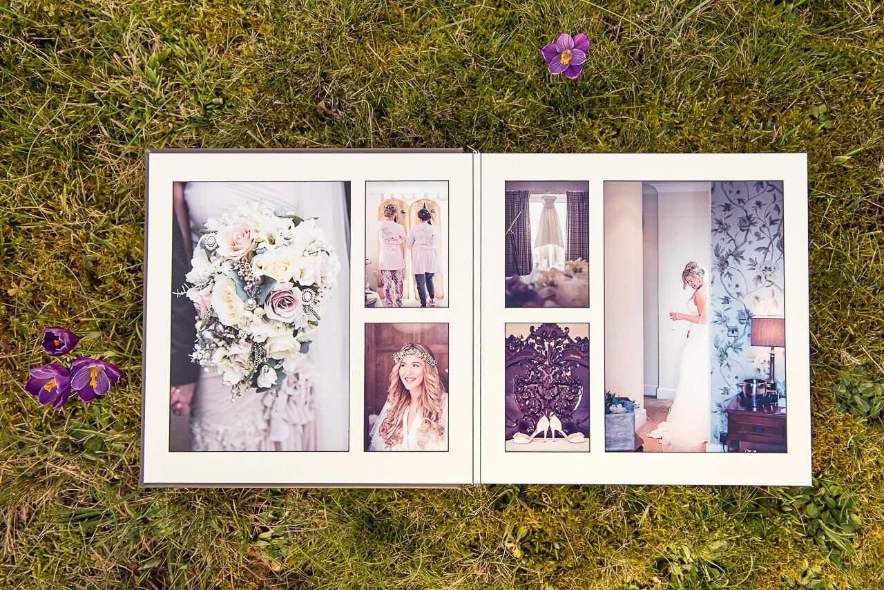 High quality matted wedding photography album example fine art album