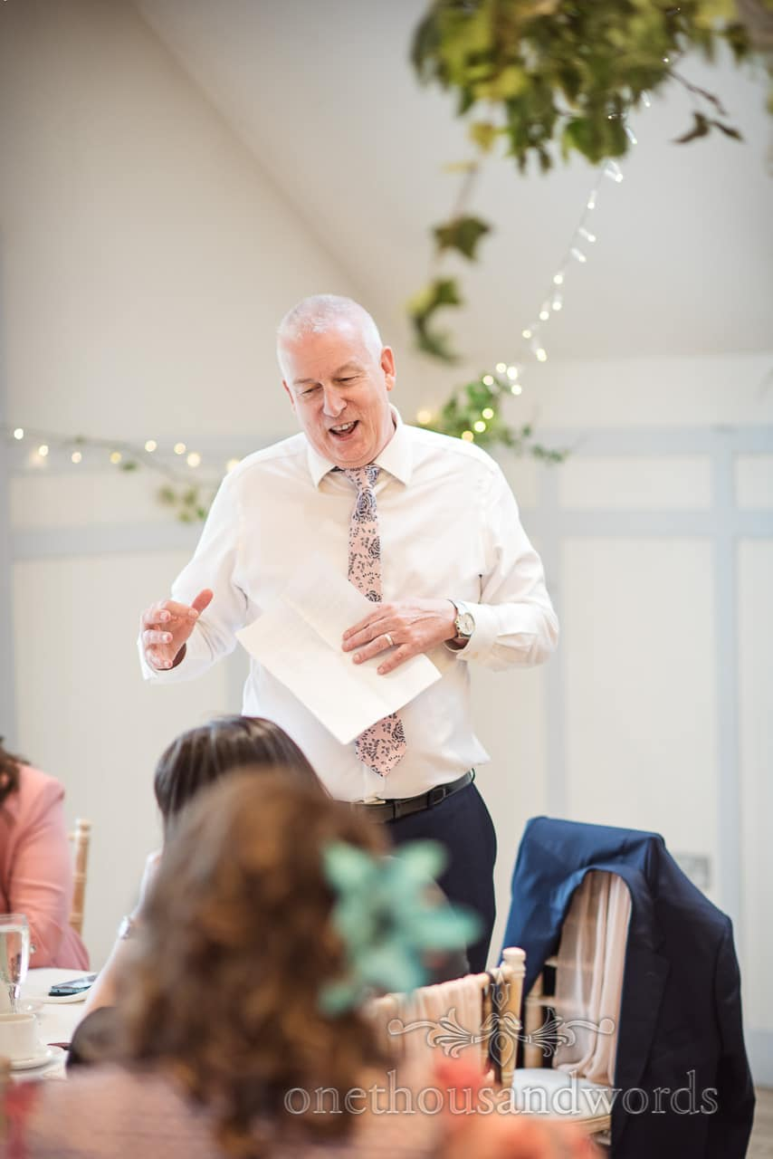 Animated Father Of The Bride Wedding Speech Portrait Photograph
