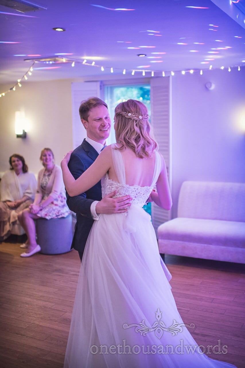 First Dance Wedding Photograph at Kings Arms Wedding in Christchurch Dorset by one thousand words wedding photography