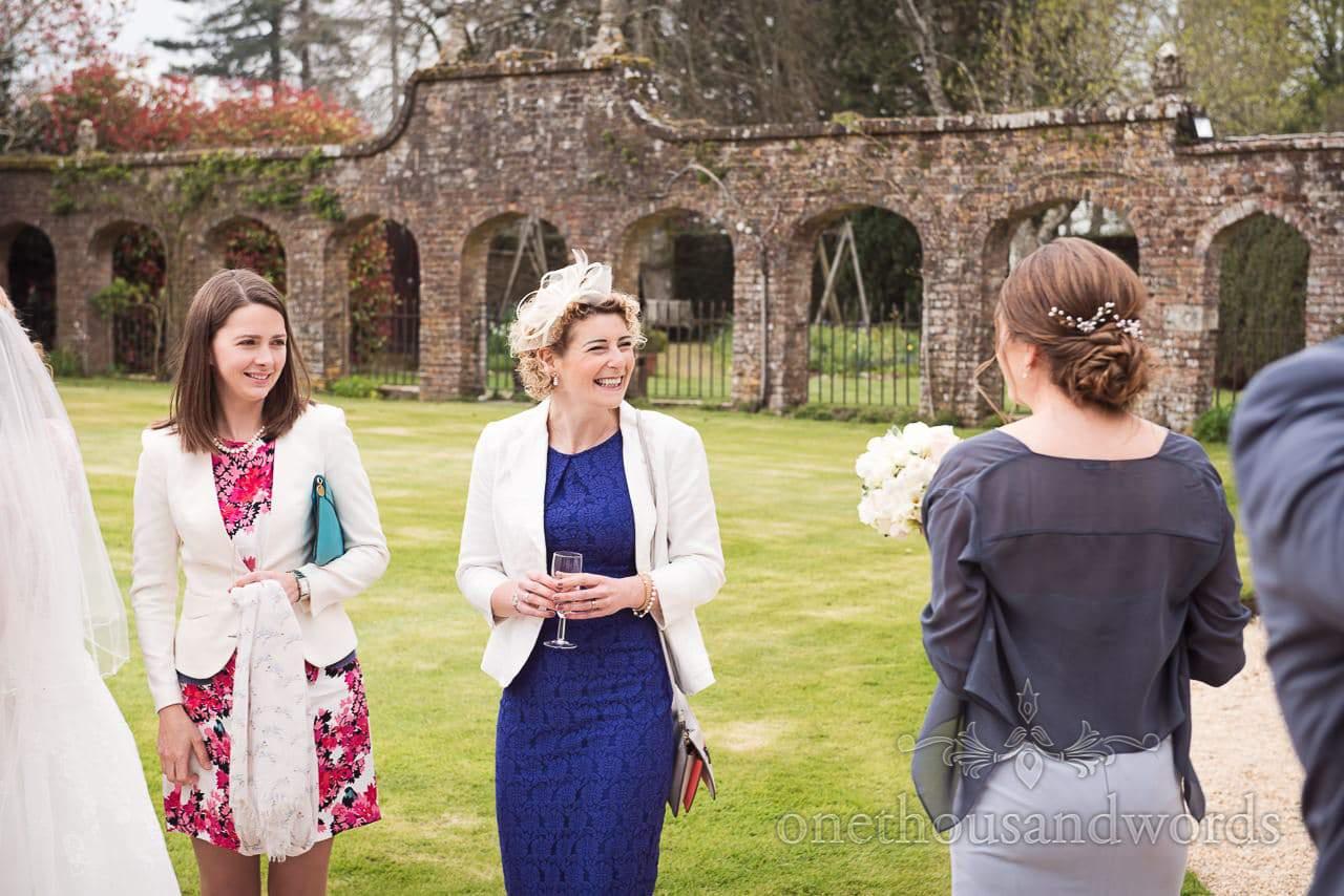 Happy wedding guests at Athelhampton House Wedding reception