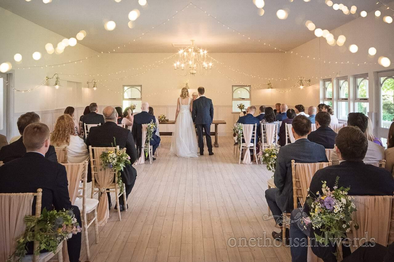 Kings Arms Pavilion Wedding Venue Wedding Ceremony Photo Christchurch Dorset by one thousand words wedding photographers