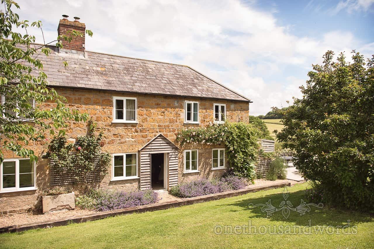 The grooms morning venue Crepe cottage on The Symondsbury Estate Dorset