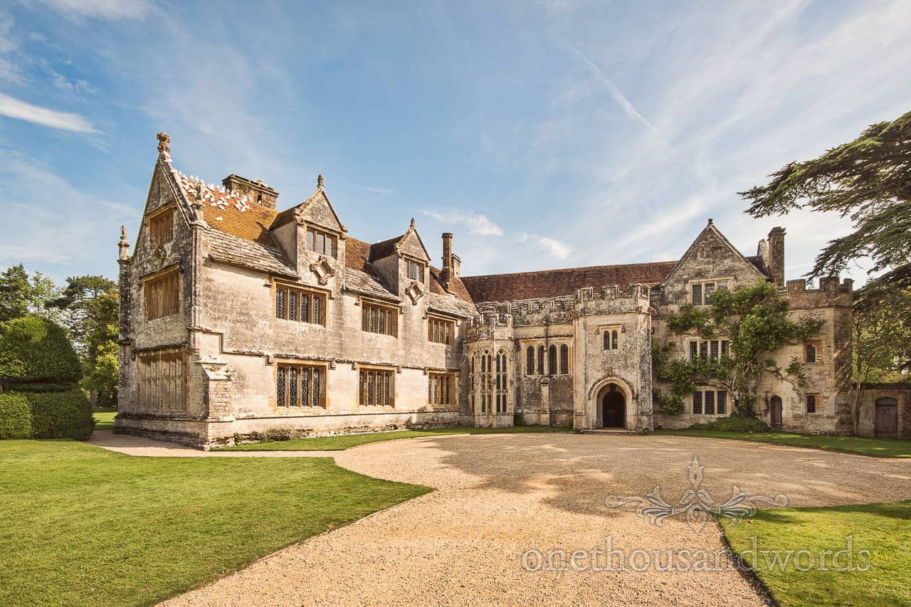 Athelhampton House wedding venue in Dorset by one thousand words photography