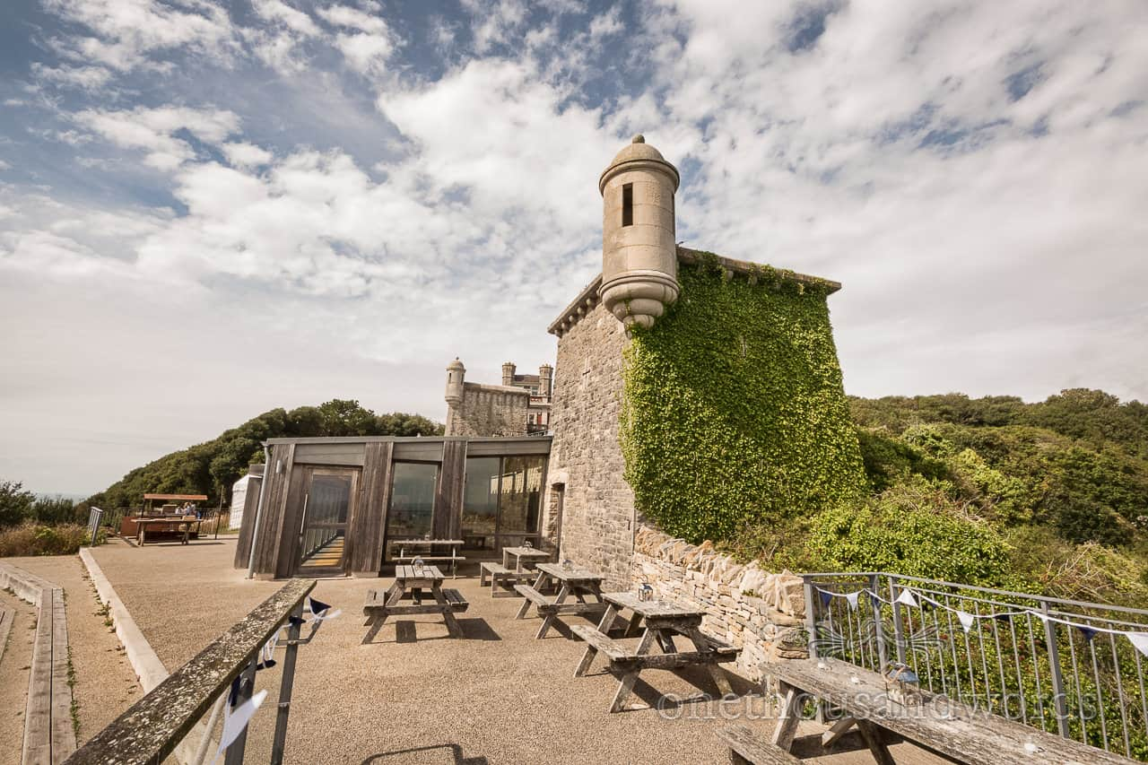 Durlston Castle wedding venue photograph by one thousand words documentary wedding photographers in Dorset